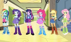 My Little pony Friendship is Magic achtergrond titled Equestria Girls