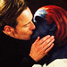 Erik Lehnsherr and Mystique Kissing