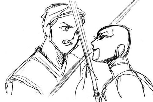 Fight Asajj and Obi-wan