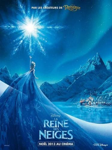 アナと雪の女王 French Poster