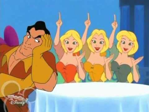 Beauty and the Beast wallpaper probably with anime entitled Gaston and the Bimbettes in House of Mouse TV Show
