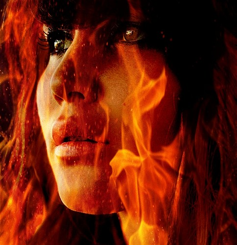 Girl On feuer
