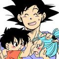 Goku, Pan And Bra