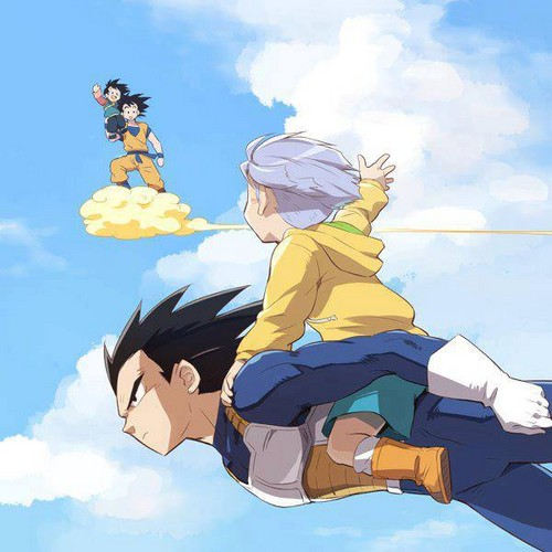 Goku and Vegeta good father