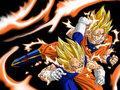 Goku vs Majin Vegeta - dragon-ball-z wallpaper