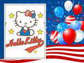 Hello Kitty July 4th پیپر وال