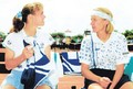 Hingis and Novotna - tennis photo