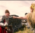 Jadis swings her sword at Peter's head. - jadis-queen-of-narnia photo