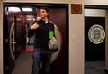 Jaromir Jagr looks around the locker room