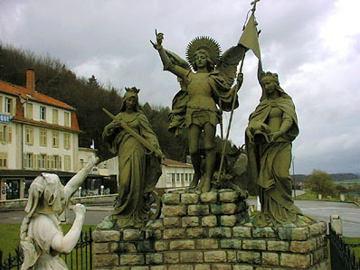 Jeanne`s visions- monument in Domremy