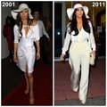 Jennifer Lopez 2001 vs Kim Kardashian 2011 [Kim Kardashian copies JLo] - jennifer-lopez fan art