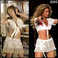 Copycat: Beyonce copies Jennifer Lopez 2005 - jennifer-lopez fan art
