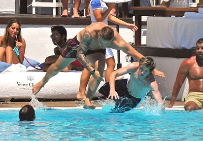One Direction achtergrond containing a water entitled July 7th - Niall Horan At Ocean strand Club In Marbella, Spain