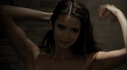 the vampire diaries wallpaper with skin and a portrait titled Katherine mandi, shower