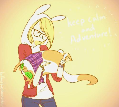 Keep Calm And Adventure Fionna The Human Fan Art