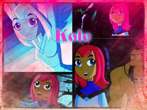 Teen Titans Girls Hintergrund with Anime entitled Kole