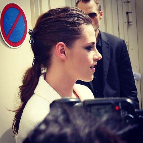 Kristen at the 2013 Chanel Fashion show in Paris,France