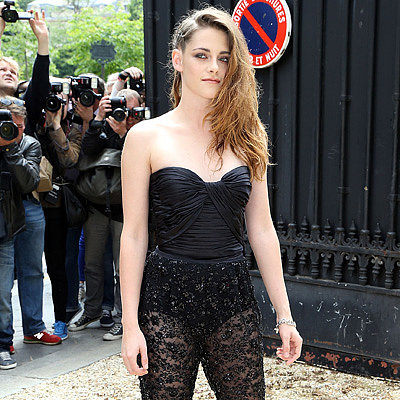 Kristen at the Zuhair Murad fashion show July 4th,2013