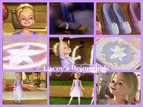 Sinema za Barbie karatasi la kupamba ukuta titled Lacey's Belongings