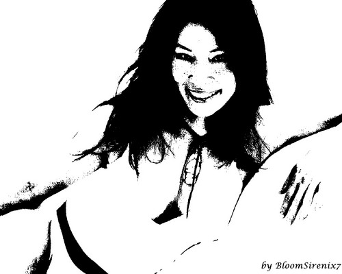 lucy liu wallpaper entitled Lucy Liu Drawing