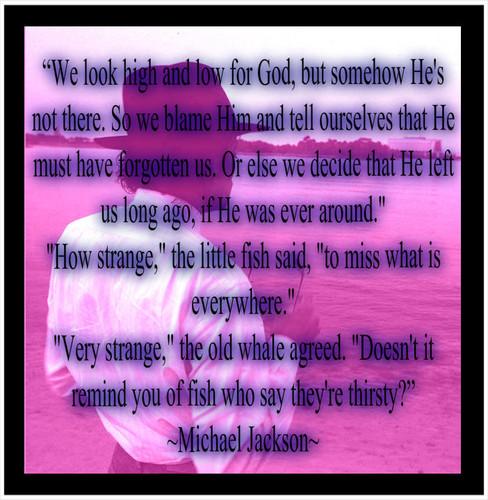 MJ God Quote