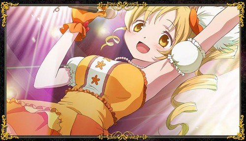 Mahou Shoujo Madoka Magica hình nền probably with anime entitled Mami Idol