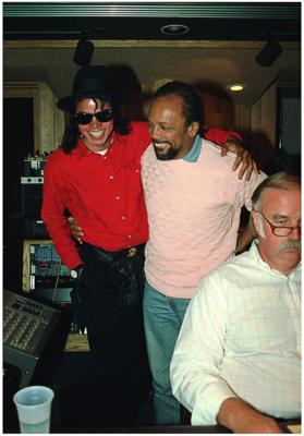 Michael In The Recording Studio With Quincy Jones