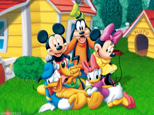 Disney wallpaper titled Mickey topo, mouse and Friends wallpaper