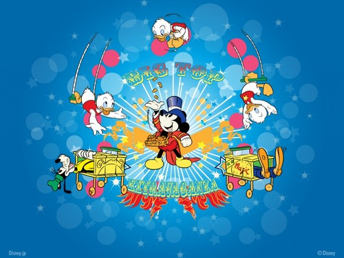 Disney wallpaper possibly containing anime entitled Mickey Mouse and Friends Wallpaper