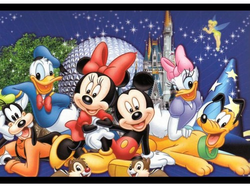 disney wallpaper probably containing anime called Mickey mouse and friends wallpaper