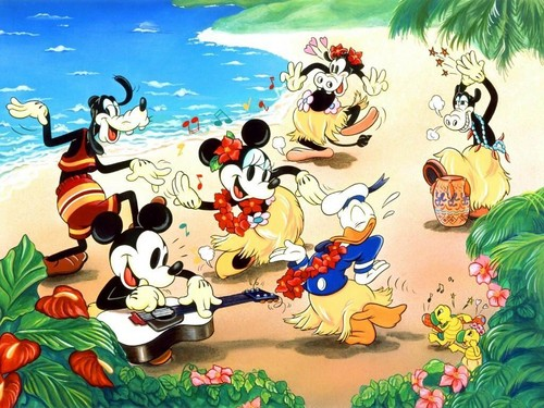 Disney Hintergrund containing Anime entitled Mickey maus and Friends Hintergrund