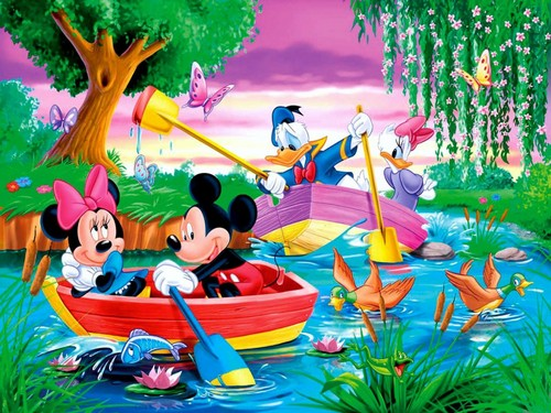 Disney achtergrond probably with a bouquet entitled Mickey muis and vrienden achtergrond