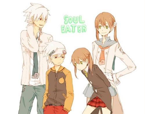 Mini Soul, big Soul, big Maka and small Maka