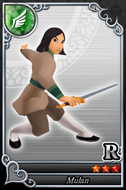 Mulan Cards in Kingdom Hearts X