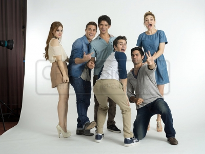 Teen Wolf wallpaper probably containing bare legs, tights, and a well dressed person called Nylon-Photoshoot-teen-wolf-