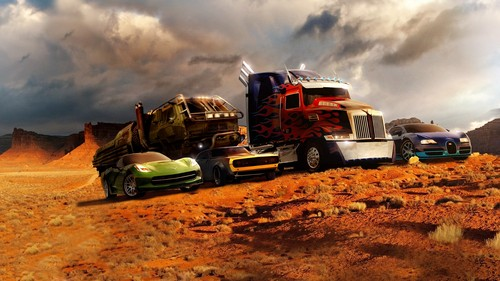 transformers wallpaper titled Optimus Prime, Bumblebee, Hound, Drift, and Slingshot