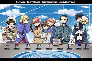 Ouran Hetalia host club pic!^^