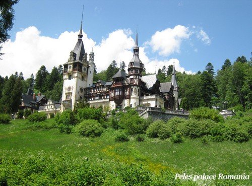 Peles palace Romania eastern 유럽 castles Carpathian mountains