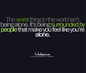 People Make Ты Feel Alone