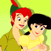Peter Pan and Melody - disney-crossover icon