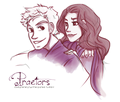 Praetors of Camp Jupiter: Reyna and Jason - the-heroes-of-olympus fan art