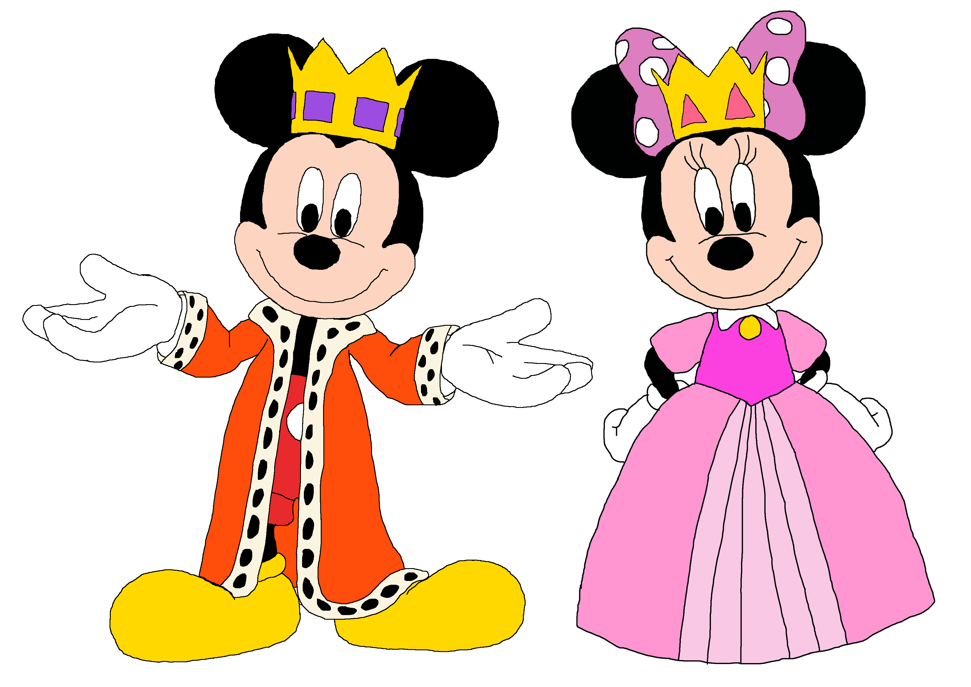 Prince Mickey and Princess Minnie - enmascarados