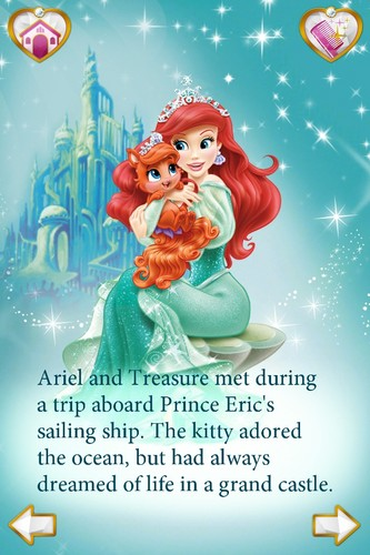 Disney Princess wallpaper possibly with anime titled Princess Palace Pets - Ariel and Treasure