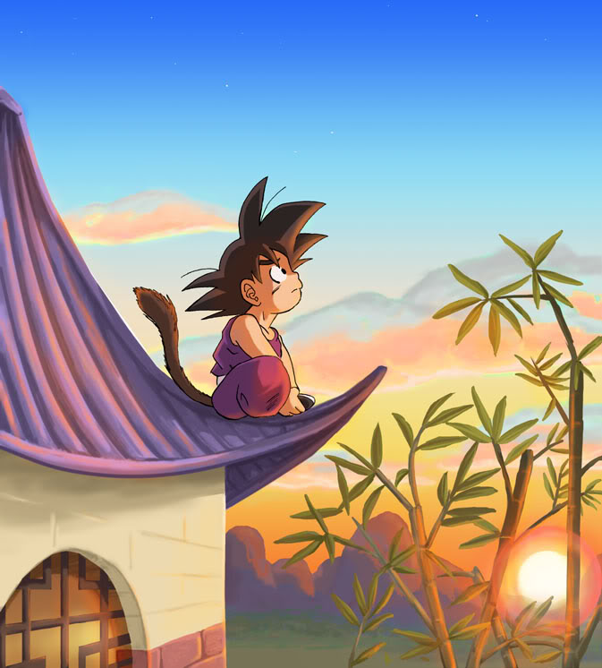 Dragon Ball images Son Goku's watching the Sunset HD wallpaper and background photos