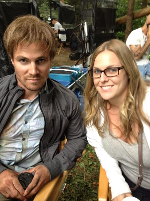 Stephen Amell and Sister