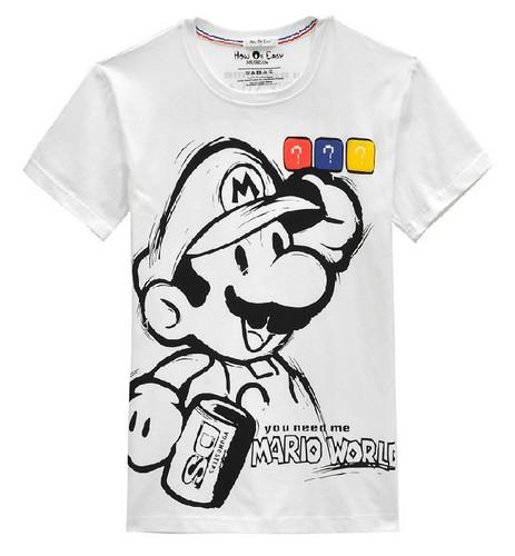 Super Mario logo funny t camisa