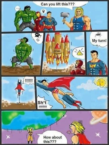 Super man and The Avengers vs Goku
