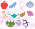 Symbols of the ডিজনি Princesses