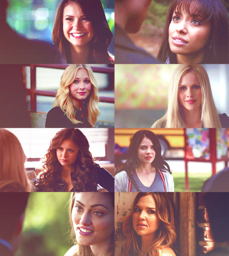 The Vampire Diaries wolpeyper probably with a portrait entitled TVD Girls - Season 4