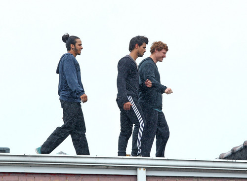 Taylor Lautner Films 'Tracers' in New Jersey